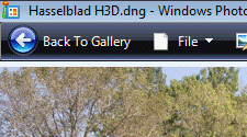 click for larger view of added DNG support in Windows Photo Gallery