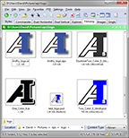Thumbnail view of vector files in DOpus