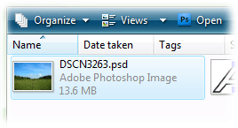 cropped PSD thumbnail in Windows Explorer